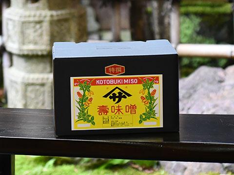 寿味噌 化粧箱3kg詰